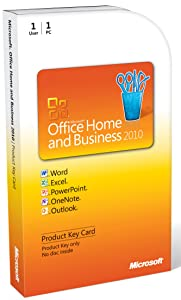 Microsoft Office Home & Business 2010 Key Card - 1PC/1User