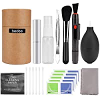 Camera Cleaning Kit, bedee Lens Cleaning Kit SLR Lens Cleaner DSLR Camera Sensor Cleaning Kit with Cleaning Cloth/Cleaning Pen/Lens Brush /Air Blower/Spray Bottle/Tweezers/Wipes/Swabs for DSLR Camera Canon, Nikon, Pentax, Sony and More