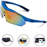 88e0759ed1e39 Sport Sunglasses - Carfia Polarized Sunglasses for Men and Women with 5  Interchangeable Lenses