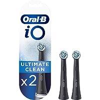Oral-B iO Ultimate Clean zwarte tandenborstelkoppen, 2 stuks