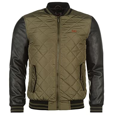 Lee Cooper Quilted PU Jacket Mens  Amazon.co.uk  Clothing e1d5515401