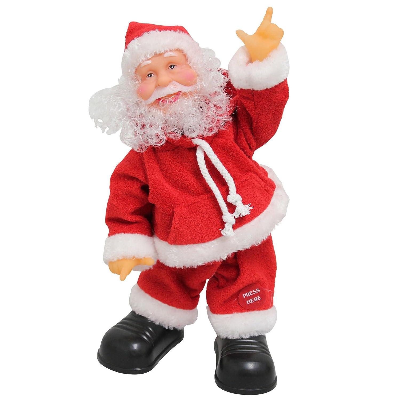 acquista marca LD decorazioni di Natale Babbo Natale che Canta tanzend tanzend tanzend 31 cm Natale decorazione Natale Statuetta Babbo Natale  esclusivo