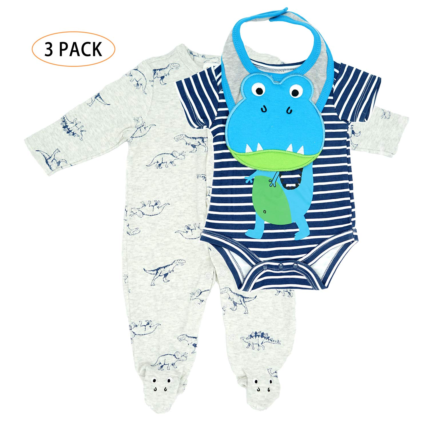 Baby Layette Set for Newborn, Infant - Girls Boys Footed Pajama
