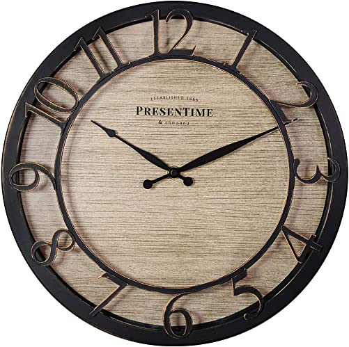 PresenTime Co 13″ Farmhouse Series Wall Clock