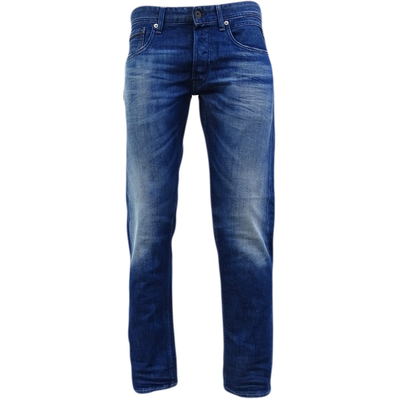Replay Blue Grover Straight Leg Jean/Denim Pants - Ma972-953-941 34/30