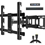 JUSTSTONE TV Wall Mount Full Motion TV Bracket with Height Setting for Most 37-86 Inch LED LCD OLED Flat Screen Curved TVs Ar