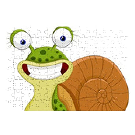My puzzle design puzzle carino lumaca cartone animato a cm x
