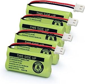 GEILIENERGY BT183342 BT283342 BT162342 BT262342 BT166342 BT266342 Phone Battery for Vtech CS6719 CS6419 CS6649 DS6151 AT&T CL4940 EL52300 Cordless Phone (Pack of 4)