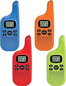 Midland X-TALKER 22 Channel FRS Walkie Talkie for Kids - Two-Way Radio, 38 Privacy Codes, NOAA Weather Alert (Multi-Color, 4-Pack)