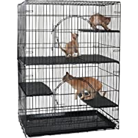 ProSelect ZW84198 Plastic Cat Deluxe Platform Cage, Set of 3