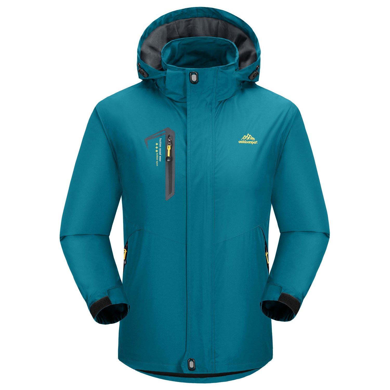 BIYLACLESEN Men's Outdoor Slim fit Windbreaker Breathable Softshell Hiking Jacket with Hood by BIYLACLESEN