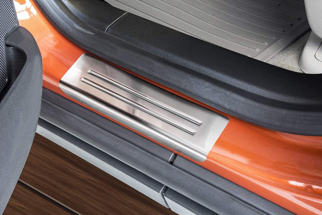 Farbe:Silber tuning-art L230-EX113 Ladekantenschutz und Einstiegsleisten