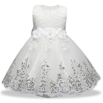 f03511ea15ce Image Unavailable. Image not available for. Color  2019 Summer Party  Princess Dress Girl Wedding Kids Dresses for Girls Bridesmaid Tutu ...