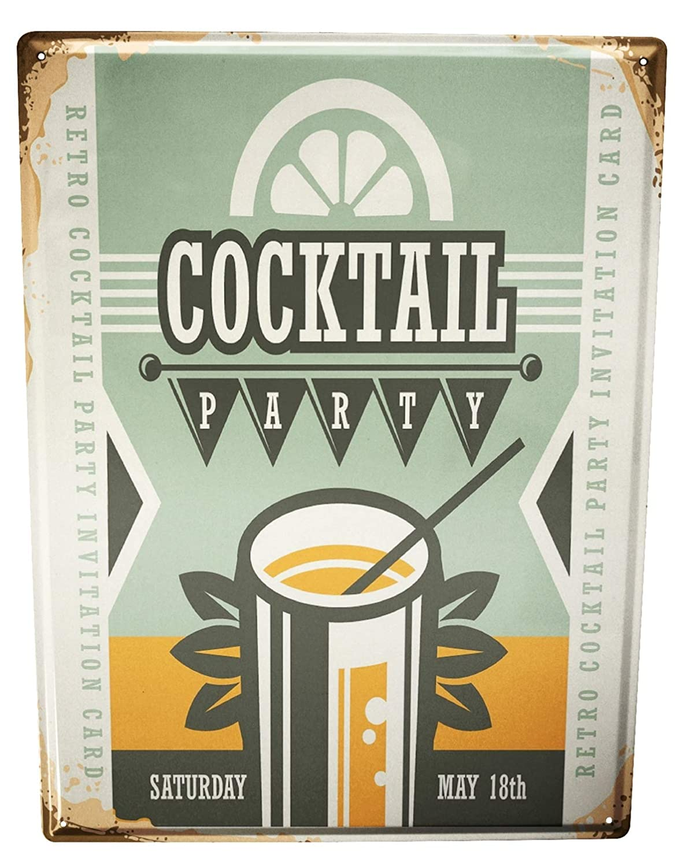 Cartel Letrero de Chapa Nostalgic Alcohol Retro partido de ...