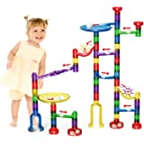 Meland Marble Run Toy Marble Game STEM Learning Toy, Educational Construction Building Blocks Toy, Marble Set Gift for Kids 4 5 6 + Year Old Boys Girls