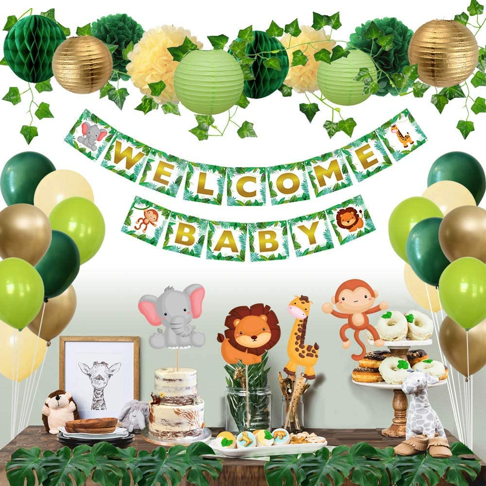 Animal Themed Baby Shower Decorations  from images-na.ssl-images-amazon.com