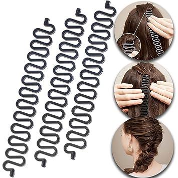 Details about  /2 Pack Hair Braiding Tool Hook Stick Roller Bun Maker   Bone Braiders