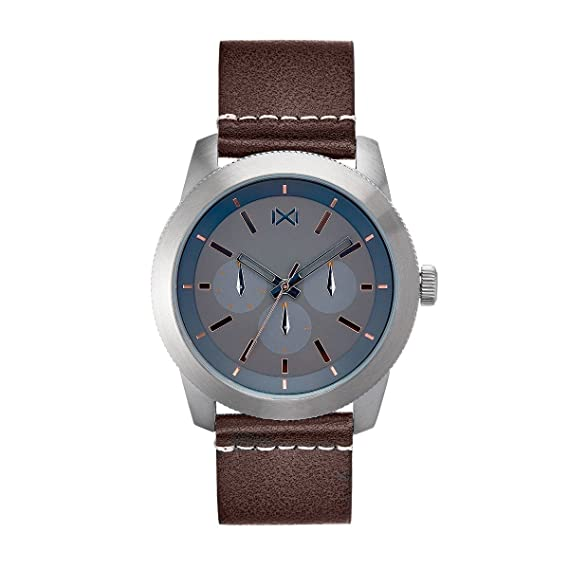 Mark Maddox Reloj Analogico para Hombre de Cuarzo con Correa en Cuero HC0101-57: Amazon.es: Relojes