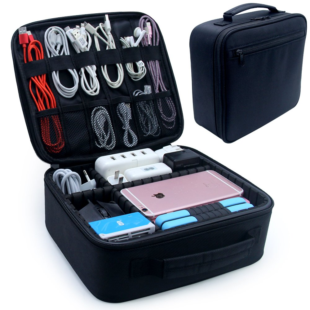 Electronic Organizers,Electronics Accessories Cases For Accessories Cable,Cord Gadget,Power Bank,Camera,Camera Lenses
