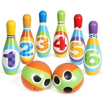Sgile Juego De Bolos Para Ninos Infantil Skittles Juego De Bolos