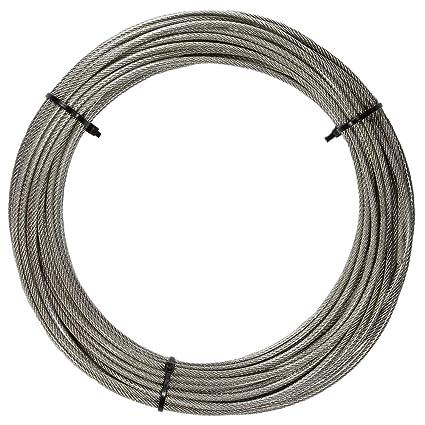 5 M de acero inoxidable - Cuerda de 7 x 7 D de alambre de=1 ...
