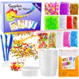 OPount 15 Pack Slime Making Kit Including Fishbowl Beads Foam Balls Slime Storage Containers Confetti Fruit Slices Slime Tools Wooden Spoon and Instructions for Slime Making Art DIY Craft