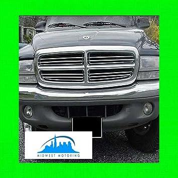 APS Compatible with 97-04 Dodge Dakota 97-03 Durango Main Upper Billet Grille Insert N19-A03756D