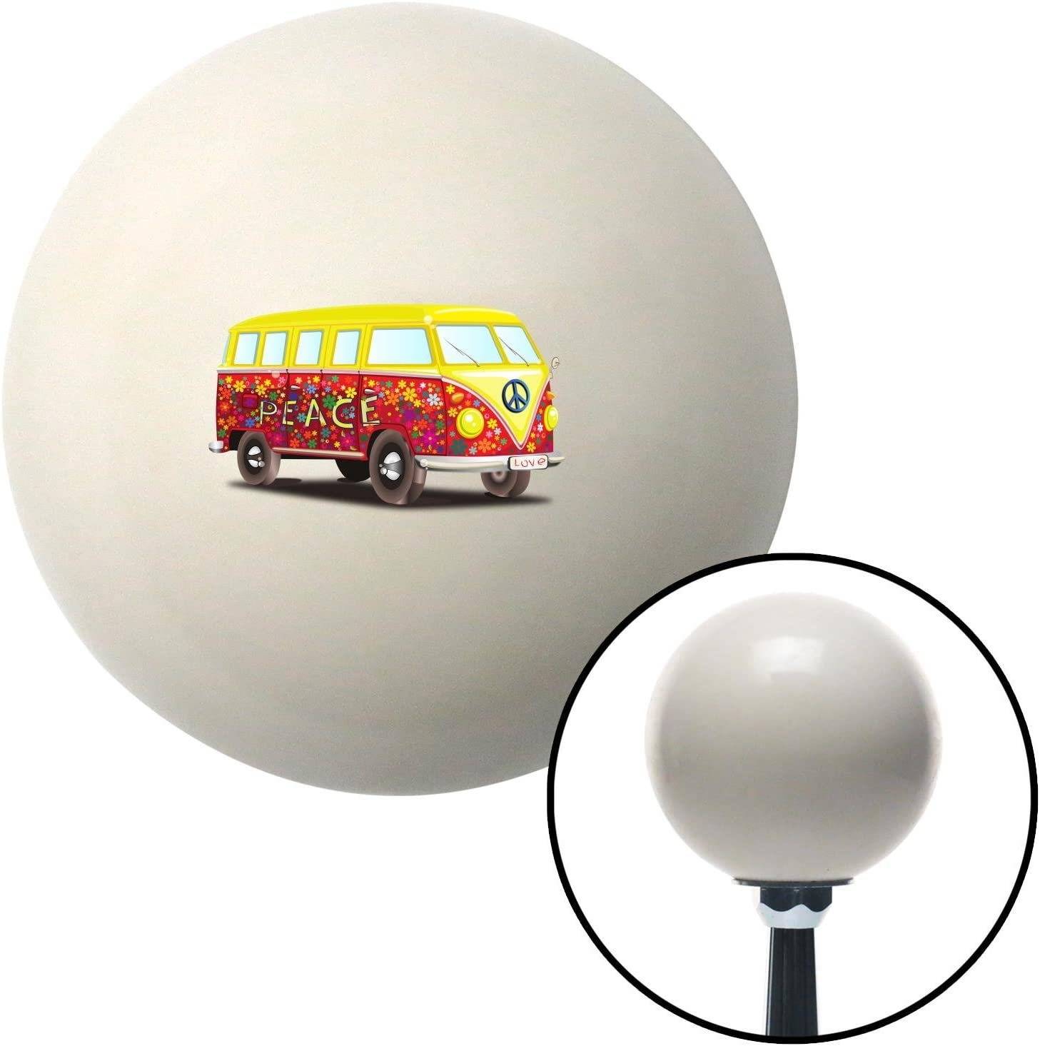 American Shifter 77355 Ivory Shift Knob with M16 x 1.5 Insert Hippie Bus