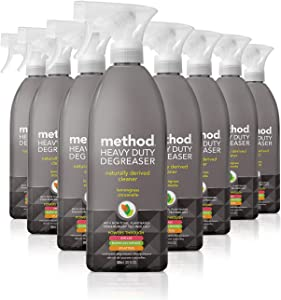 Method Heavy Duty Degreaser, Oven Cleaner and Stove Top Cleaner, Lemongrass, 28 Fl Oz, Pack of 8