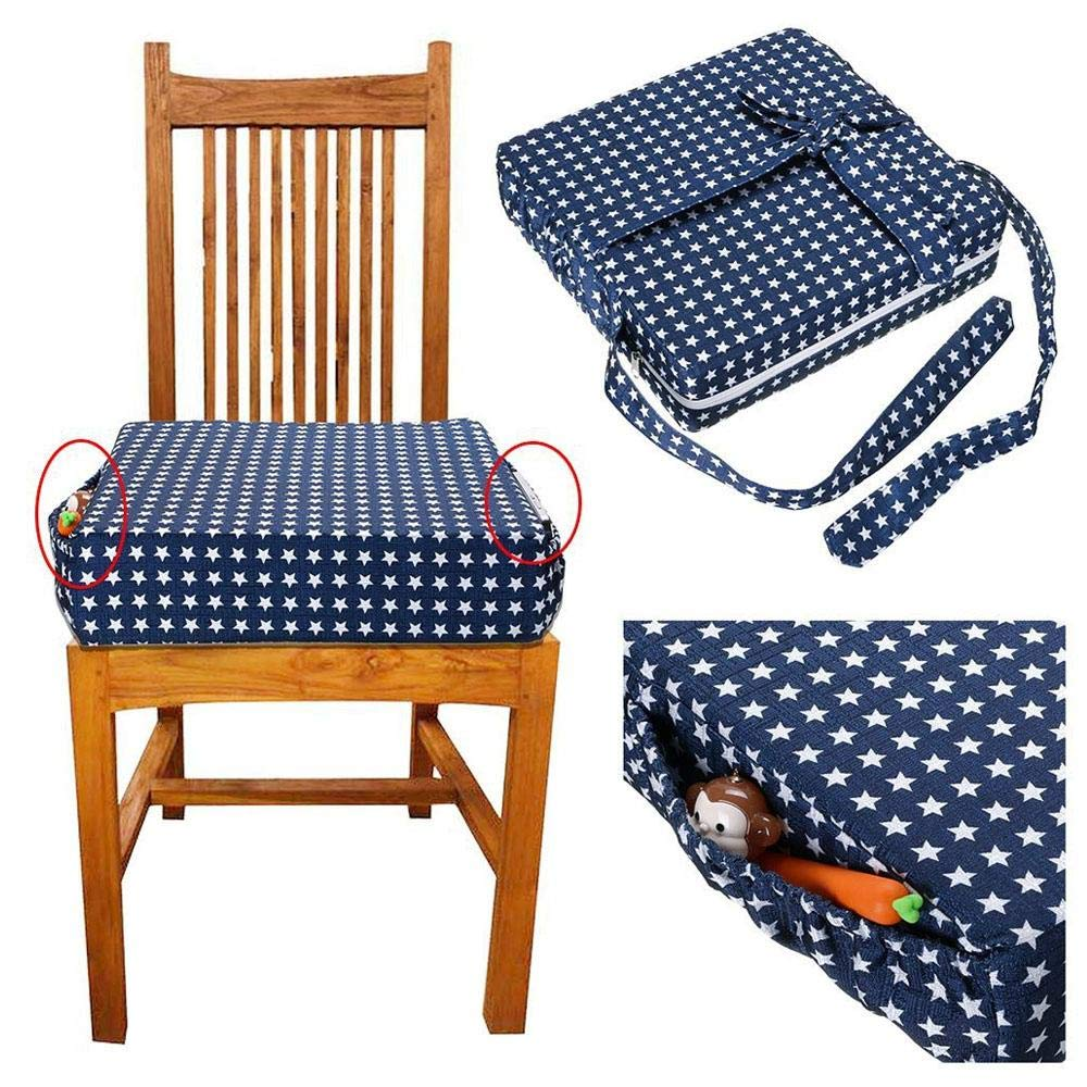 A Baby Portable Booster Seat For High Chair Dinning Bench Chair With Long Strap Little Pocket TAWCAL Chair Booster Cushion