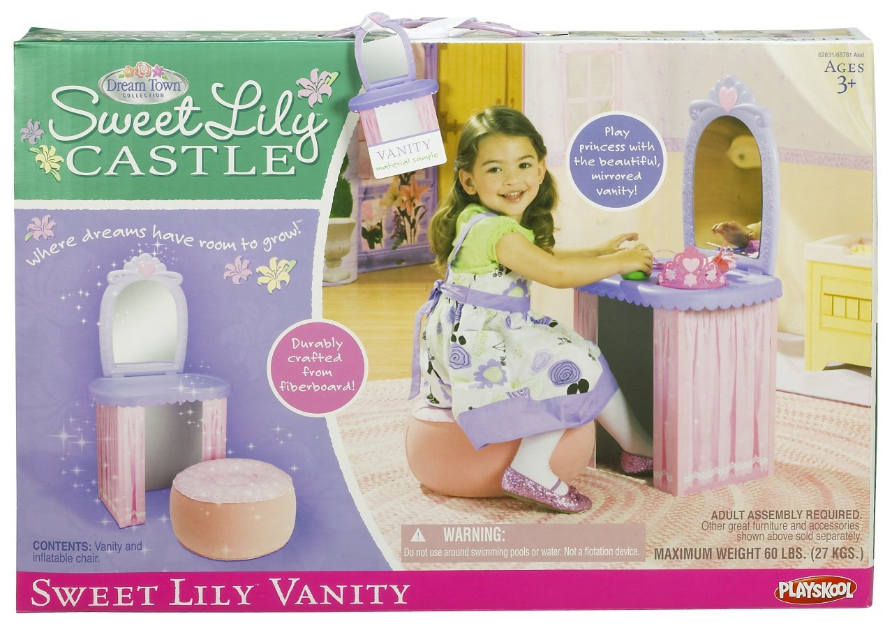 3bfa1501430 Amazon.com  Playskool Dream Town Sweet Lily Vanity  Toys   Games