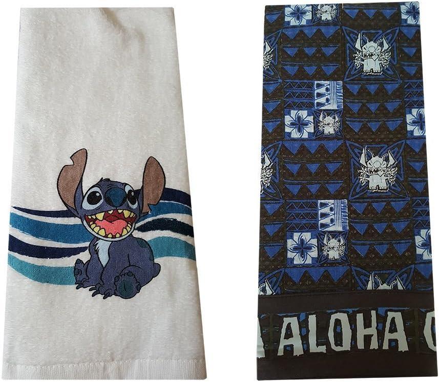 Theme Park Merchandise Disney Parks Authentic Stitch Aloha Ohana Kitchen Dish Bath Hand Towel Set