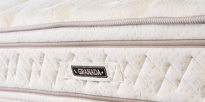 Premium de 7 zonas Colchón muelles ensacados 28 cm Granada H2 con con aloe vera): Amazon.es: Hogar