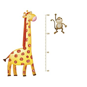 Jomoval Roommates Repositionable Childrens Wall Stickers Jungle Adventure  Giraffe Growth Chart, Multi Colour Part 94