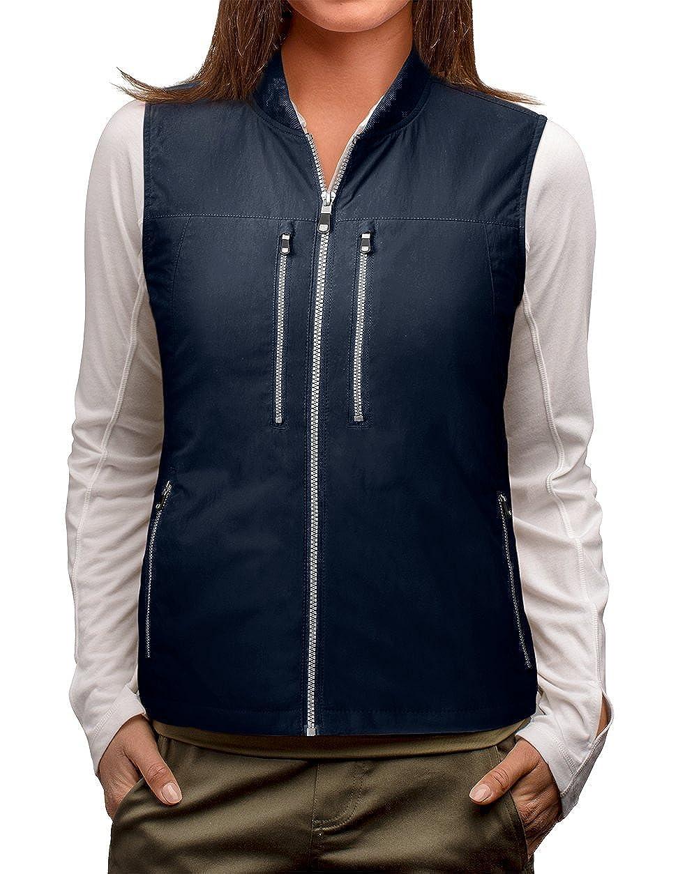 Navy SCOTTeVEST 101 Travel Vest for Women with Pockets  Lightweight Utility Vest