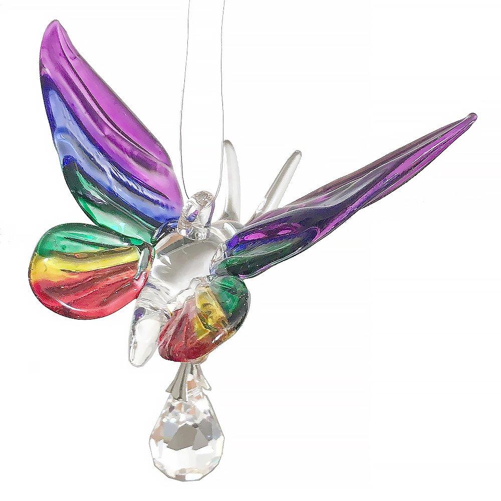 Hängedekoration, Schmetterling aus Glas, handgefertigt, regenbogenfarben Hängedekoration Wild Things