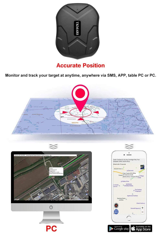 cami/ón GPS localizador con im/án localizador con Voz y Monitor Rastreador GPS GPS GPS para Coche TKMARS Moto localizaci/ón Coche en Tiempo Real