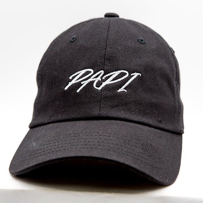 22e857e34f3 Nissi Papi Dad Hat (Black) at Amazon Men s Clothing store