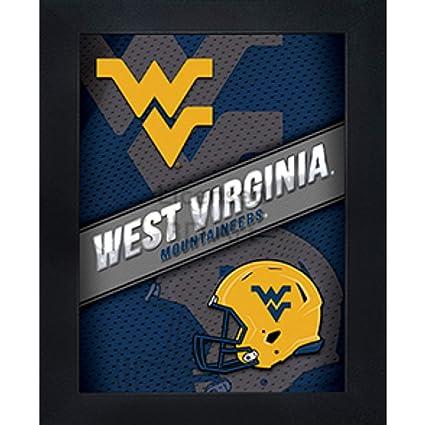 detailed look 3cc1d b621f West Virginia Mountaineers 3D Poster Wall Art Decor Framed Print    14.5x18.5