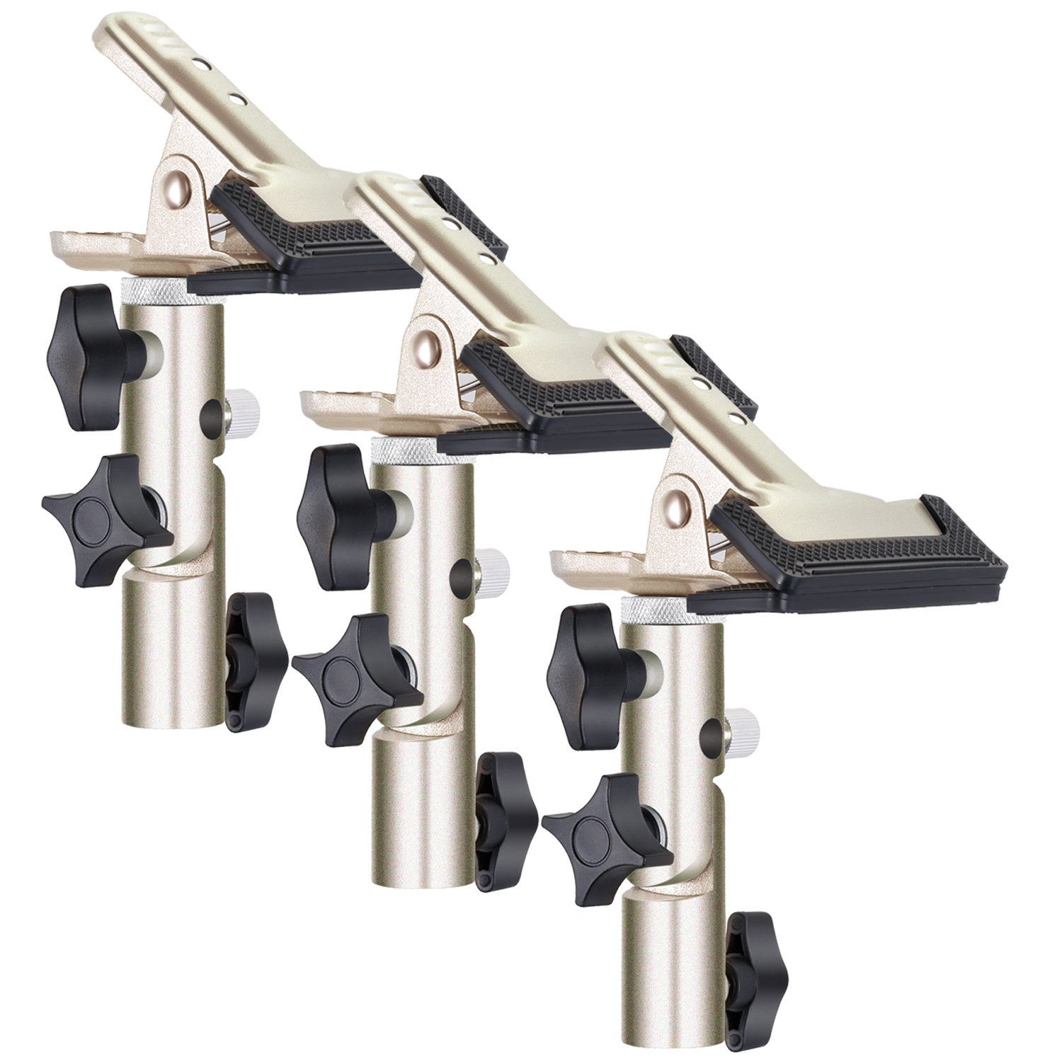 Neewer 3-Pack Heavy Duty Metal Spring Clamp Holder with 5/8.