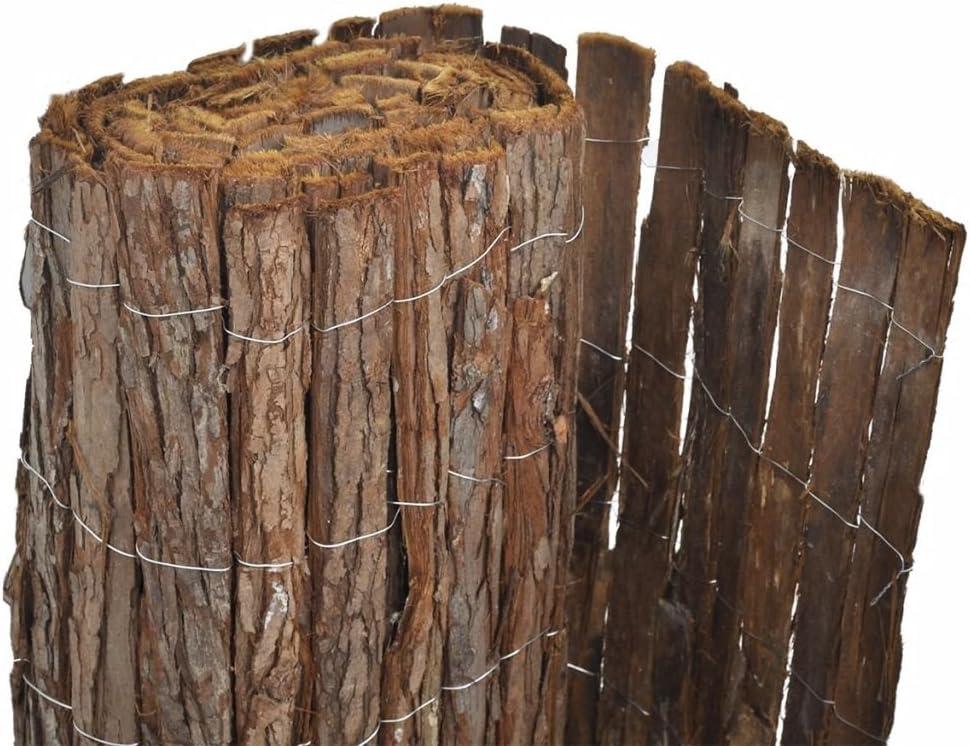 vidaXL Valla Cortezas de Arboles 400x100cm Cercado Separador Protección Patio: Amazon.es: Hogar