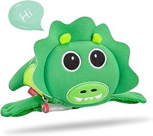 Kids Travel Waist Bag, Termichy Waist Bag 3D Animal Dinosaur Fanny Pack Wallet Camera Bag for Toddler Teens Boys Girls Party Rave Makeup,Parent-child Dressing (Dinosaur)