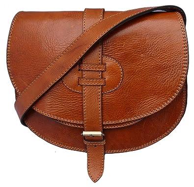 6293f7202 Genuine leather saddle style handbag, shoulder bag, cross-body bag ...