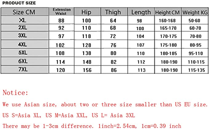 Eslove Fashion Men Baggy Pants 7XL Men Trousers Solid Color Elastic Casual Pants Extra BigRed Blue Black Gray