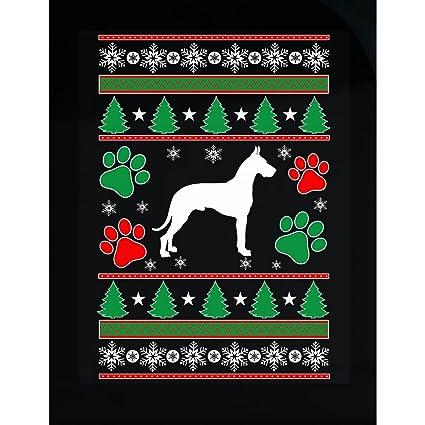 Amazon.com: BadAss Attire Ugly Christmas Sweater Great Dane Dog ...