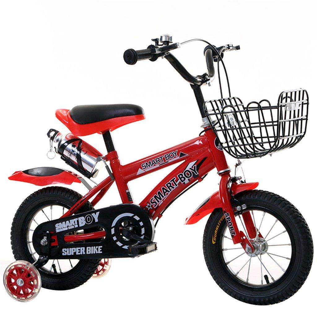 KANGR-子ども用自転車 子供用自転車アウトドアマウンテンバイク2-3-6-8ボーイズとガールズ子供用おもちゃ調節可能ハンドルバー/フラッシュトレーニングホイール付きサドルウォーターボトルとホルダー-12 / 14/16/18インチ ( 色 : 赤 , サイズ さいず : 18 inch ) B07BTWBZXD 18 inch|赤 赤 18 inch