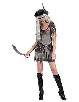 Generique - Disfraz Pirata Fantasma Gris Mujer L: Amazon.es ...