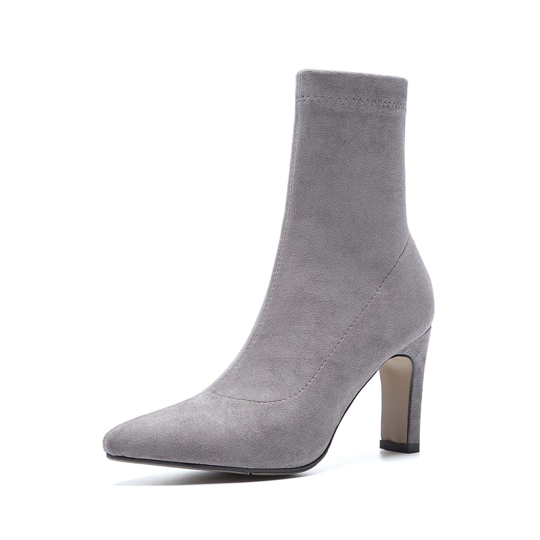 Liuxc High High High Heels PU- high-Heeled Spitzen Stiefelies Mode Stiletto einfache Wilde Frauen Stiefel Beine dehnen Damen Stiefel 434c58