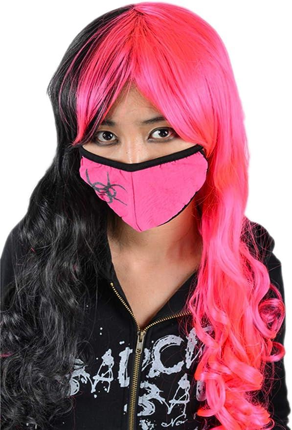 Blu Travestimento siringa Rosa Rosso Nero Gotico Naso Anti-Polvere Bianco ago Maschera per Bocca Black Sugar per Infermiere a Forma di Cuore Punk