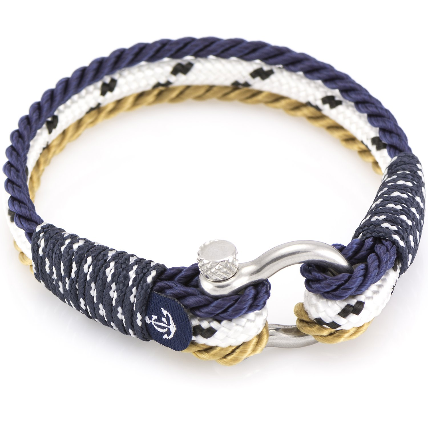 anchor mens paracord rope pin bracelet nautical